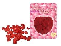 60 stk. Silke rose blade i hjerte æske