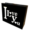 I Love You Gavepose sort/hvid