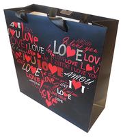 Love Gavepose sort/rød tekst