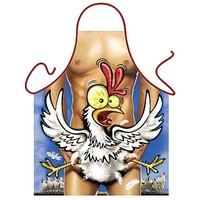 Forklæde mand med høne (31145)