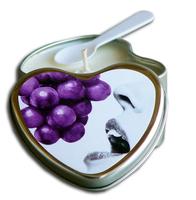 Earthly Body Hjerte Massagelys - Grape 175ml