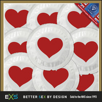 12 stk. EXS - Love Heart kondomer