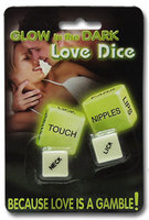 Love Dice selvlysende terninger