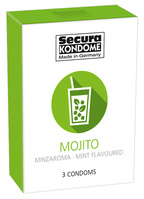 3 stk. Secura Mojito mint kondomer