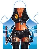 Forklæde med politi dame (34150)