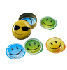Smiley metal box med 5 kondomer