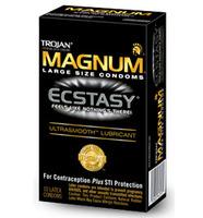 10 stk. TROJAN - Magnum Ecstacy kondomer