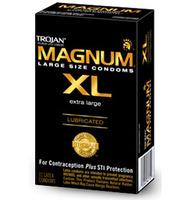 12 stk. TROJAN - Magnum XL kondomer