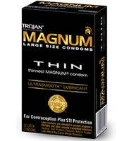 12 stk. TROJAN - Magnum Thin kondomer